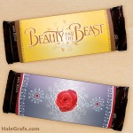 FREE Printable Beauty and the Beast Candy Bar Wrappers