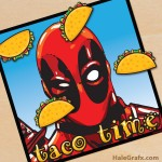 FREE Printable Pin the Tacos on Deadpool