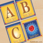 FREE Printable Beauty and the Beast Alphabet Banner Pack