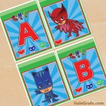 FREE Printable PJ Masks Alphabet Banner Pack