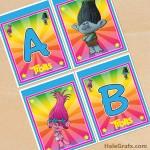 FREE Printable Trolls Alphabet Banner Pack