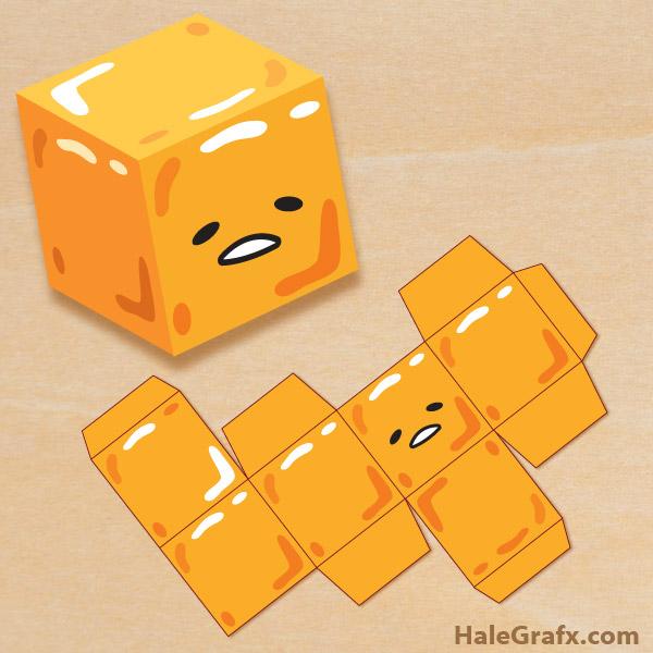 FREE Printable Gudetama Treat Box