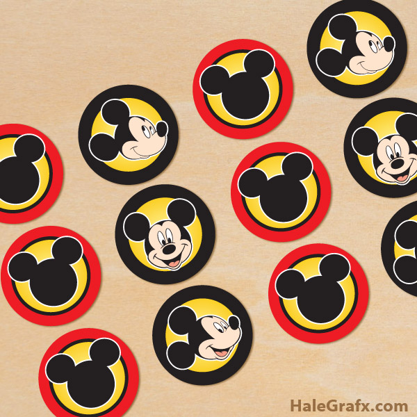 image about Printable Mickey Mouse referred to as Cost-free Printable Mickey Mouse Cupcake Toppers
