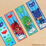 FREE Printable PJ Masks Bookmarks