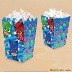 FREE Printable PJ Masks Popcorn Box