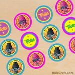 FREE Printable Trolls Cupcake Toppers