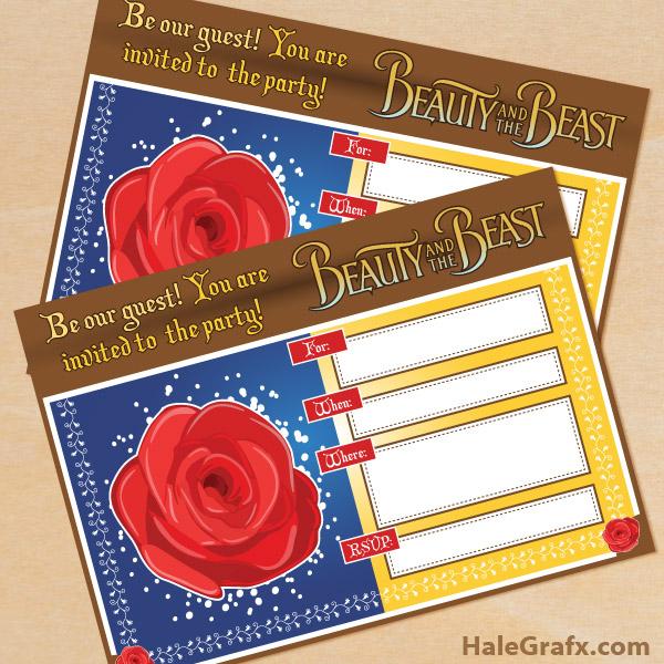 Beauty And The Beast Novel Pdf: FREE Printable Beauty And The Beast Birthday Invitation
