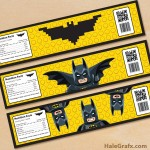 Free Printable LEGO Batman Water Bottle Labels