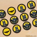 FREE Printable LEGO Batman Cupcake Toppers