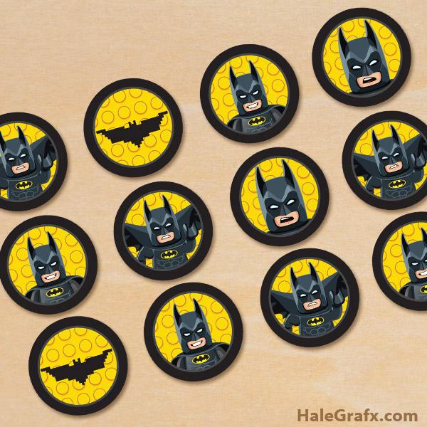 photo regarding Lego Batman Printable known as Totally free Printable LEGO Batman Cupcake Toppers