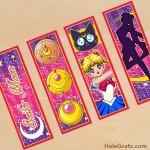 FREE Printable Sailor Moon Bookmarks