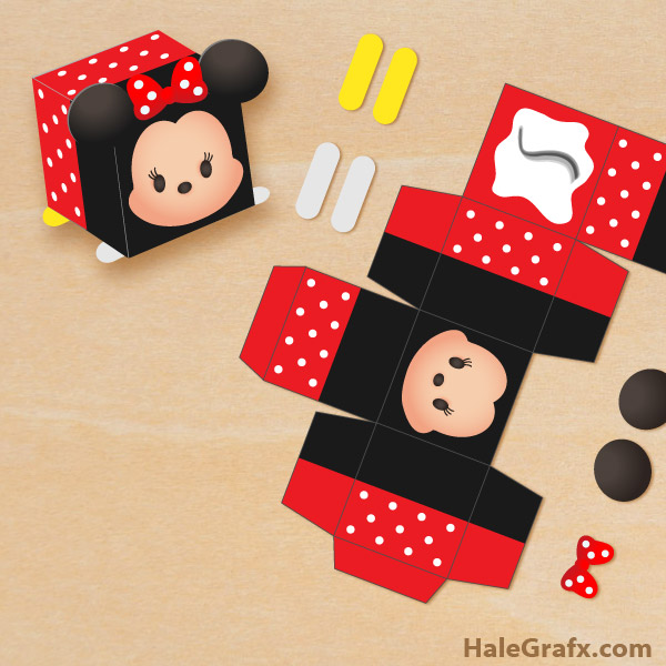 FREE Printable Tsum Tsum Minnie Treat Box
