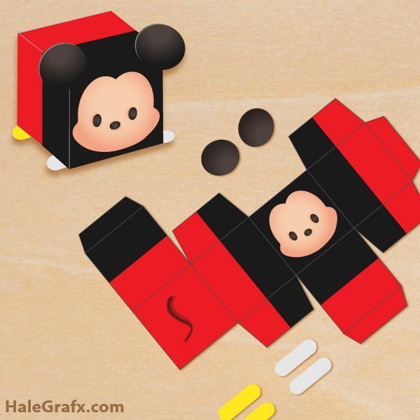 FREE Printable Tsum Tsum Mickey Treat Box