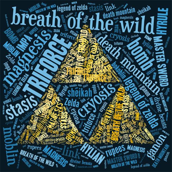 FREE Printable Zelda Breath of the Wild Word Art