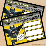 FREE Printable LEGO Batman Birthday Invitation