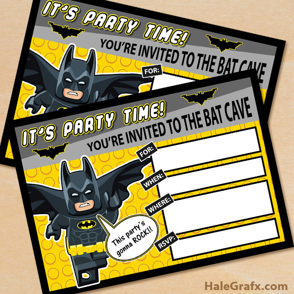 image about Batman Birthday Invitations Printable Free titled Totally free Printable LEGO Batman Birthday Invitation