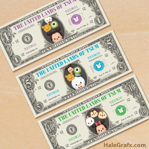 Colered Toy Money : Free printable tsum play money