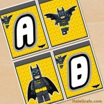 FREE Printable LEGO Batman Alphabet Banner Pack