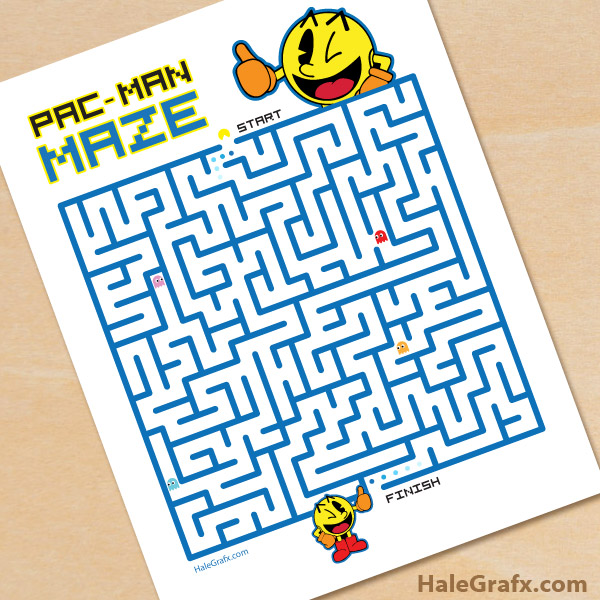 image about Pac Man Printable known as Free of charge Printable Pac-male Maze