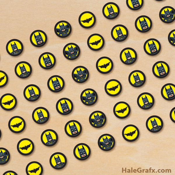 FREE Printable LEGO Batman Hershey's Kisses Stickers