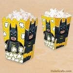 Free Printable LEGO Batman Popcorn Box