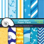 FREE Summer Beach Digital Paper Pack