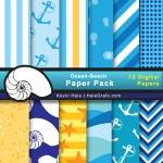 FREE Summer Beach Digital Paper Pack