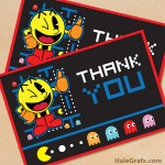 FREE Printable Pac-man Thank You Card