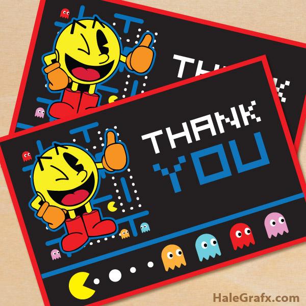 FREE Printable Pac-man Thank You Card