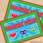 FREE Printable PJ Masks Thank You Card
