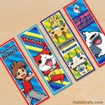 FREE Printable Yo-Kai Watch Bookmarks