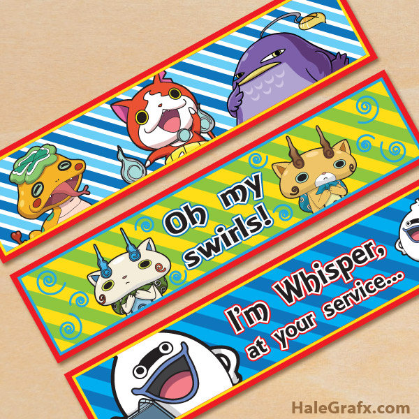 Free Printable Yo-kai Watch Water Bottle Labels