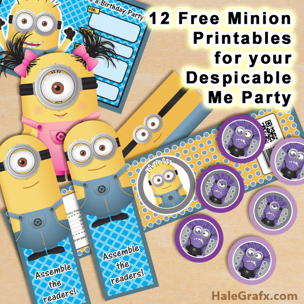 12 free minion printables for your upcoming party