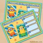 FREE Printable Despicable Me Summer Minions Invitation