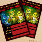 FREE Printable Five Nights at Freddy's Party Invitation