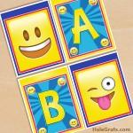 FREE Printable Emoji Alphabet Banner Pack