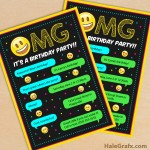 FREE Printable Emoji Birthday Party Invitation