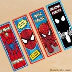FREE Printable Spider-man Bookmarks