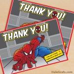 FREE Printable Spider-man Thank You Card