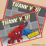 FREE Printable Spider-man Thank You Card