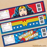 Free Printable Wonder Woman Water Bottle Labels