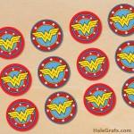 FREE Printable Wonder Woman Cupcake Toppers