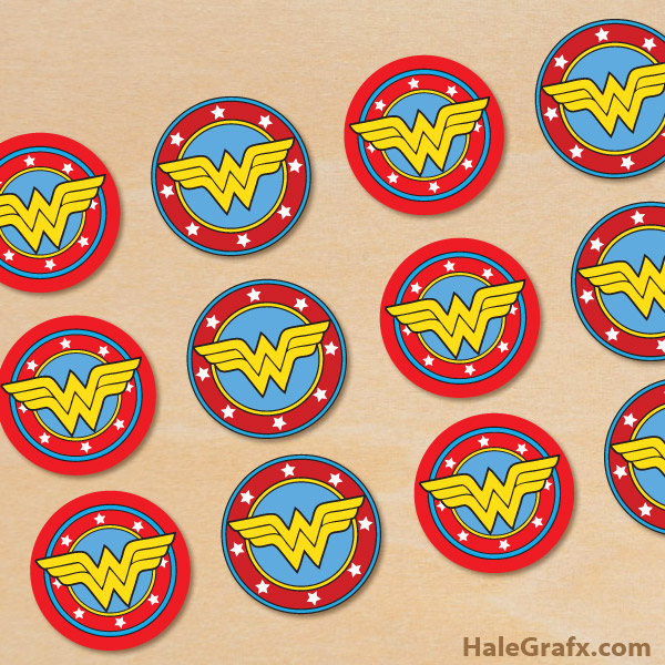 FREE Printable Wonder Woman Cupcake Toppers