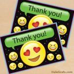 FREE Printable Emoji Thank You Card