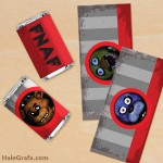FREE Printable Five Nights at Freddy's Mini Candy Bar Wrappers