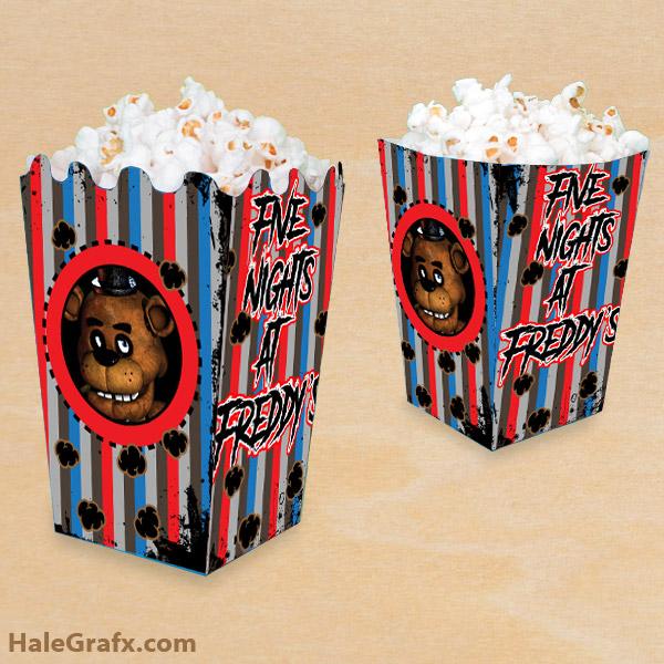 FREE Printable Five Nights at Freddy's Popcorn Box