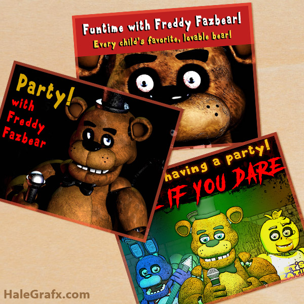 picture about Give Me Five Poster Printable Free identified as Free of charge Printable 5 Evenings at Freddys Posters