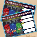 FREE Printable PJ Masks Birthday Invitation