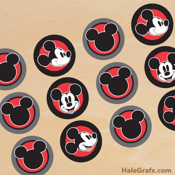 FREE Printable Vintage Mickey Mouse Cupcake Toppers