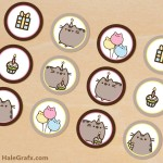 FREE Printable Pusheen Cupcake Toppers